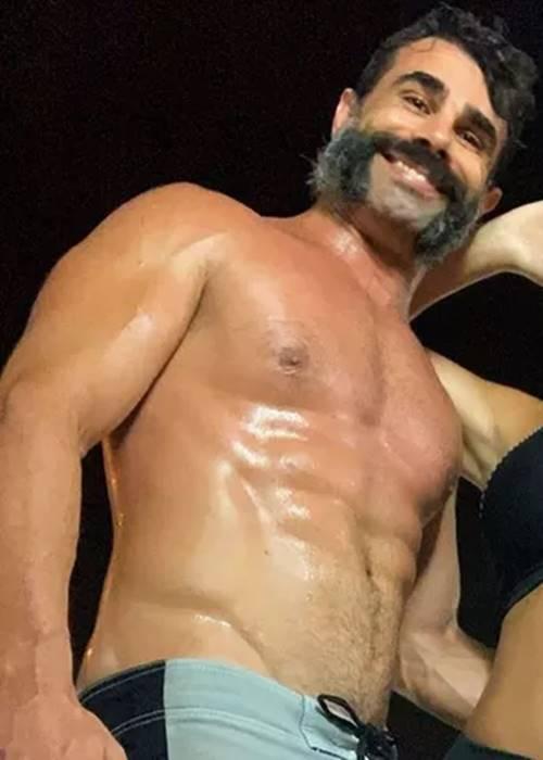 Foto do empresário e ex-fazendeiro Jorge Sousa todo suado
