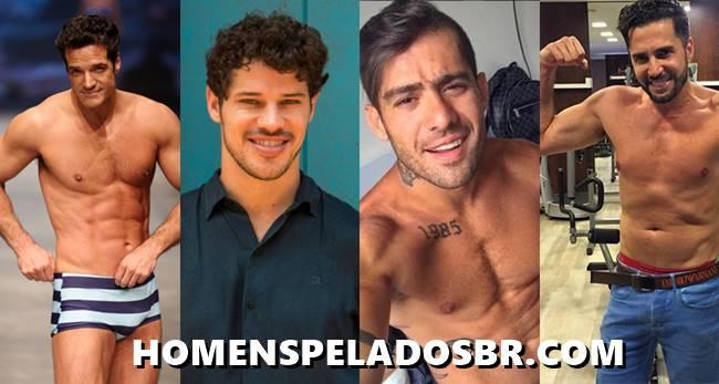 10 Homens Famosos pelados mostrando tudo