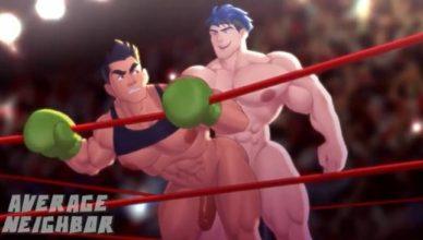 Lutadores de box transando no ringue