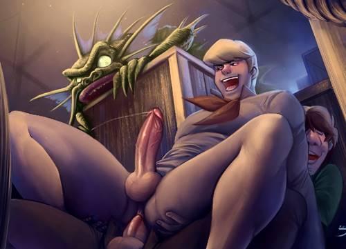 Fred dando o cu para o amigo Salsicha - Hentai Gay