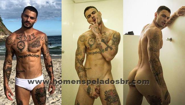 Luis Coppini do Are The One Brasil da MTV pelado