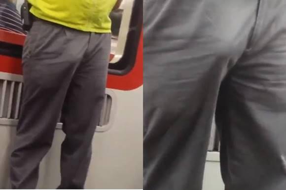 Funcionário do metrô de pau duro no horário de trabalho