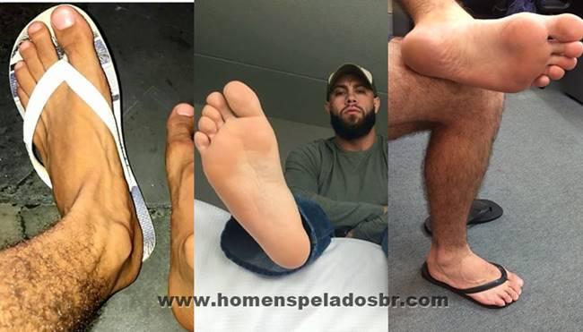 Fotos de pés bonitos e gostosos de machos
