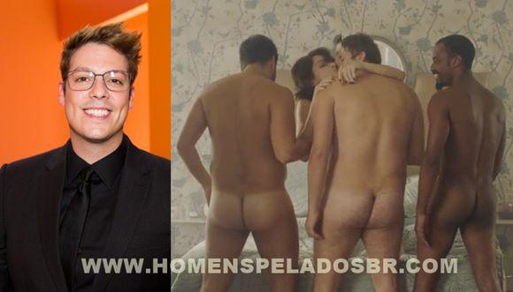 """Fábio Porchat, Gabriel Louchard e Raphael Logam nus em """"Homens?"""""""