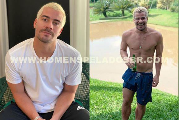Fotos do ator Thiago Martins com o pênis marcando