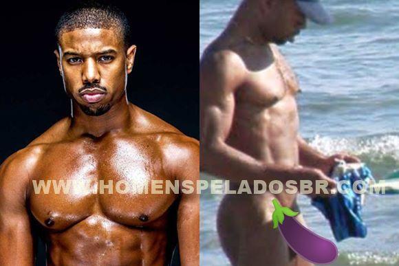 Fotos de Michael B. Jordan pelado na praia