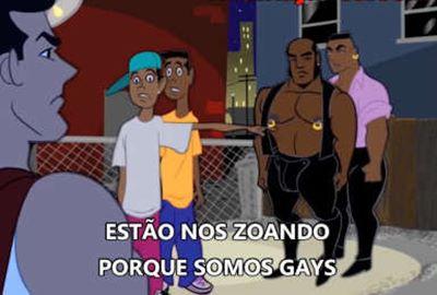 Desenho Animado com as Aventuras do Super Herói Gay