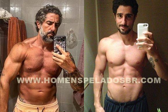 Fotos do apresentador Marcos Mion com o pênis marcando