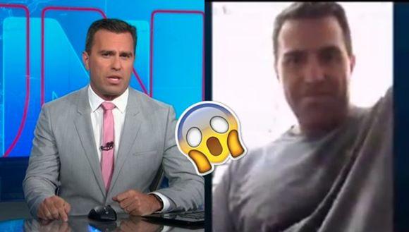 Apresentador Rodrigo Bocardi batendo punheta no Skype