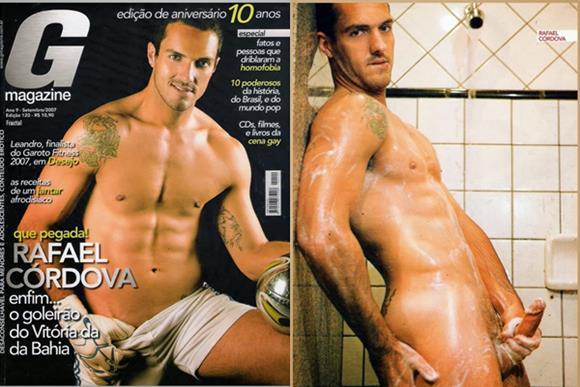 Goleiro Rafael Córdova pelado na G Magazine