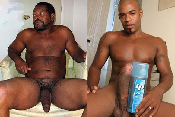 40 Nudes de homens negros dotados e roludos
