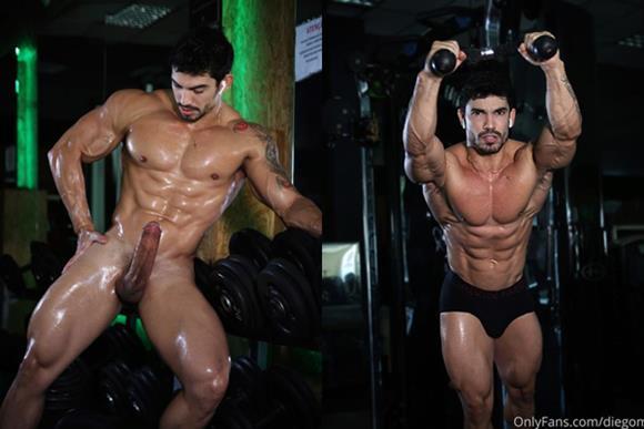 Fotos de Diego Mineiro XXL nu e mostrando a rola