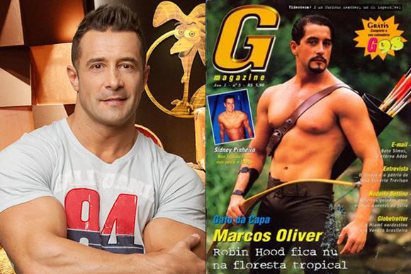 Marcos Oliver pelado na revista G Magazine