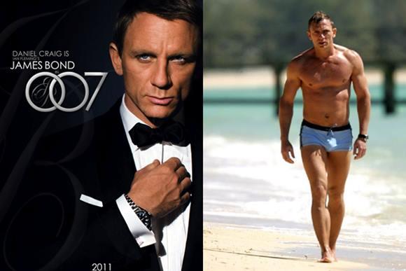 Fotos do ator Danile Craig (James Bond) Pelado