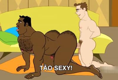 Cartoon Gay o Jovem Saradão e o Negro Putinho