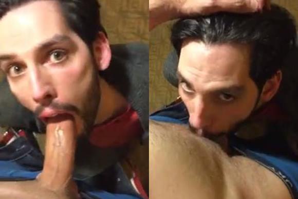 Engolindo a pica do macho casado até ele leitar