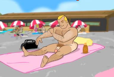 Cartoon Gay - O Surubão na Praia
