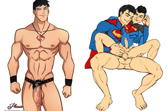Fotos do herói Superman pelado em cartoon